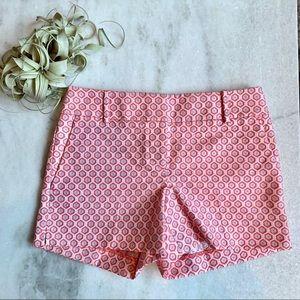 LOFT Pink/Silver Floral Medallion Riviera Shorts